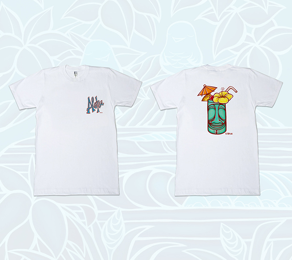 Men's Aloha & Tiki Mug (double-sided) Tee<br>【T-shirt】