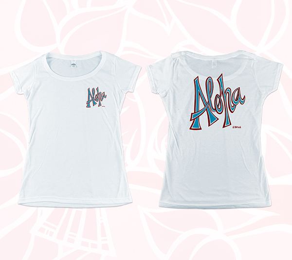 Women's Aloha (double-sided) Scoop<br>【T-shirt】