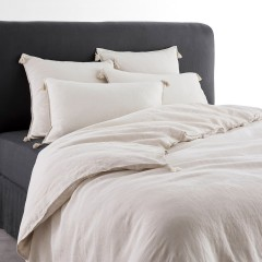 Carly Washed Linen Duvet Cover with Tassels