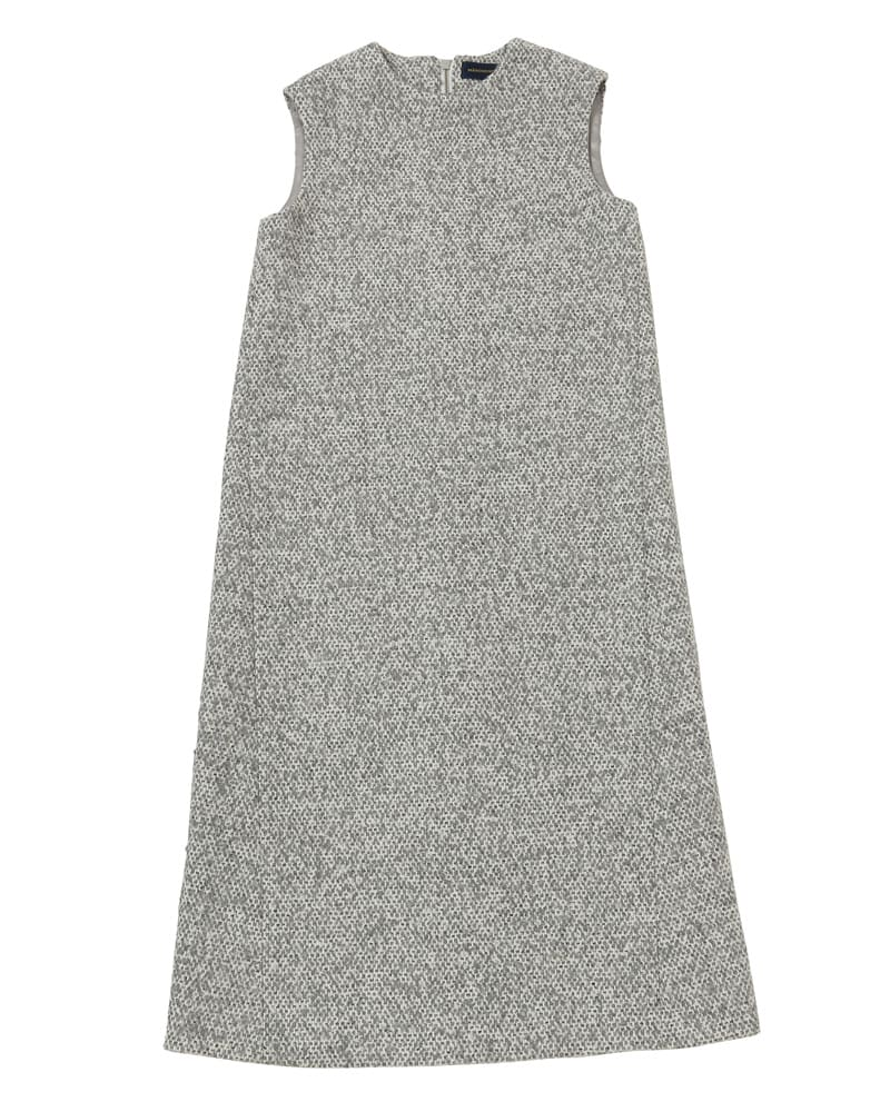 mix tweed onepiece(gray) ワンピ ワンピース オトナ可愛い エレ女