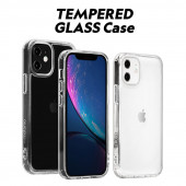 【iPhone 12 mini / 12 Pro / 12 / 12 Pro Max ケース】motomo INOTEMPERED GLASSCASE【クリアケース / 強化ガラス】