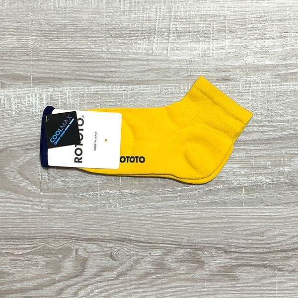 RoToTo / ロトト FINE COOL ANKLE SOCKS YELLOW